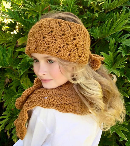 head warmer neck warmer crochet pattern