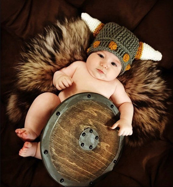 Baby Viking Hat Crochet Pattern