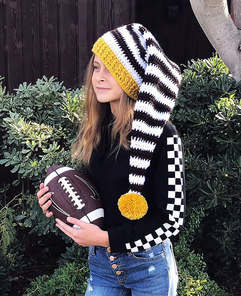 Football Team Colors Elf Hat Crochet Pattern