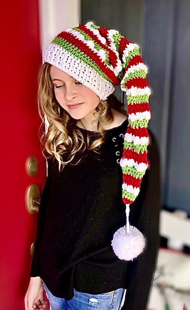 Yuletide Elf Hat Crochet Pattern