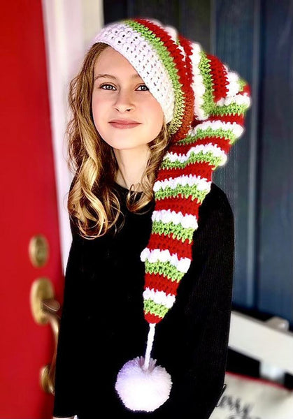 Long Elf Hat Crochet Pattern