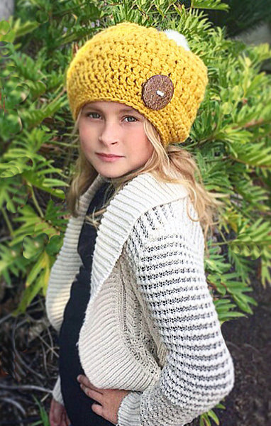 Chunky Female Slouchy Hat Crochet Pattern