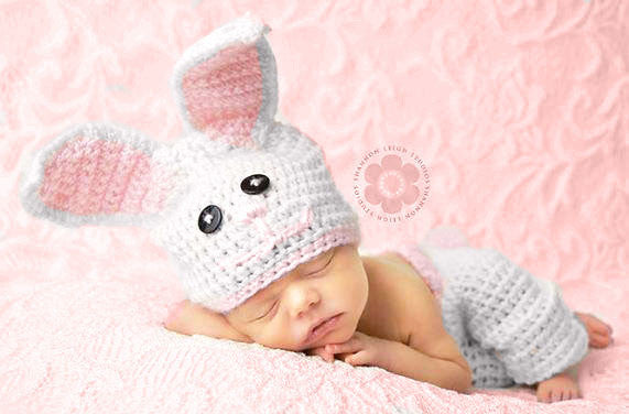 Baby bunny hat pants crochet pattern