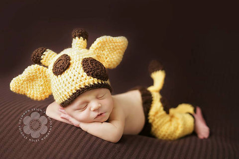baby giraffe hat pants crochet pattern