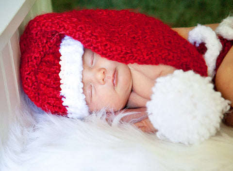 Baby Santa Hat Knifty Knitter Loom Pattern