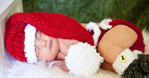 Baby Santa Hat Diaper Cover Pattern