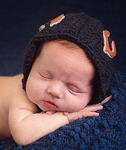 Newborn Baby Football Helmet Pants Plush Football Crochet Pattern - Johnny Football Set