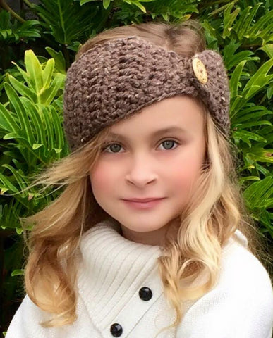 Head Warmer Crochet Pattern for girls and women