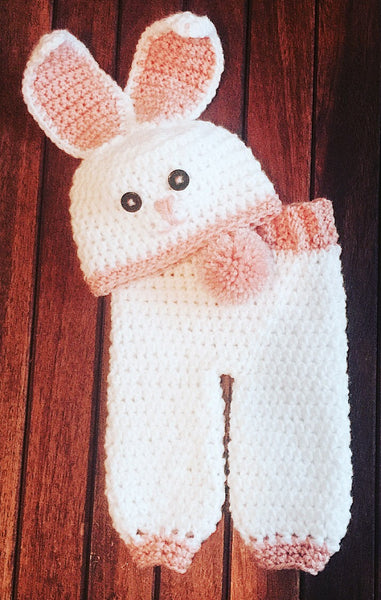newborn baby bunny hat pants crochet pattern