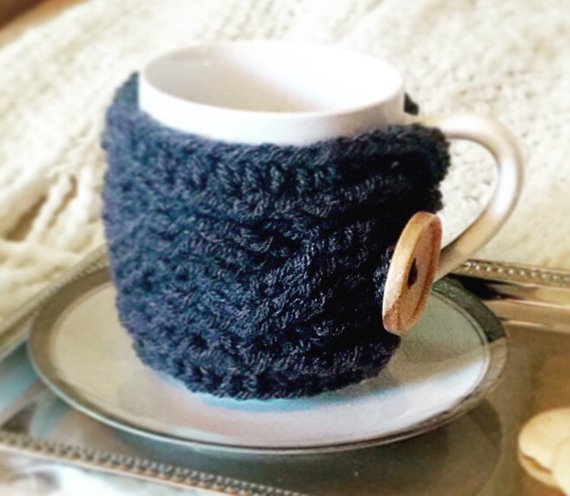 Cable Coffee Cup Cozy Crochet Pattern - The Cable Cozy