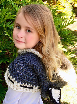 Cat Hooded Cowl Scarf - Crochet Pattern