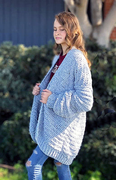 Bulky 5 yarn Cardigan Crochet Pattern