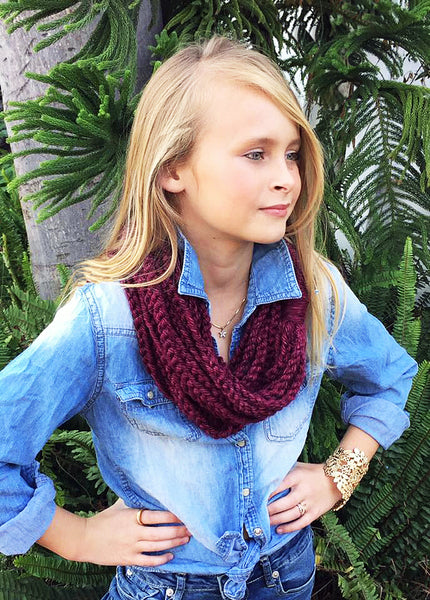 girls's infinity scarf crochet pattern