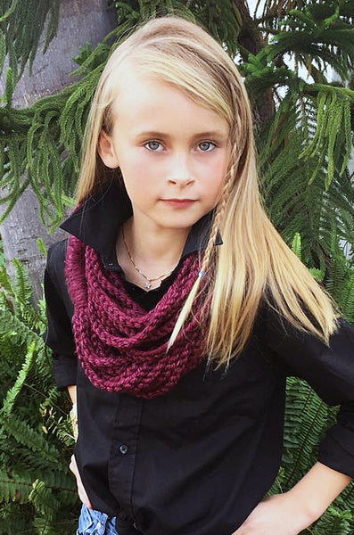 neck warmer chain scarf crochet pattern