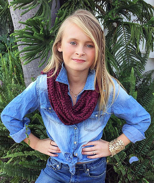 chain scarf crochet pattern