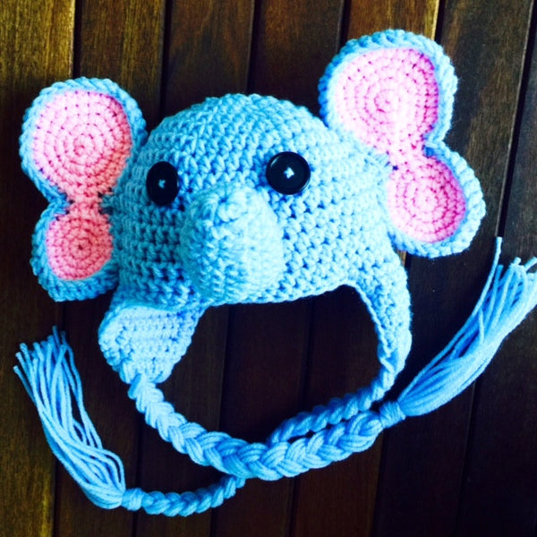 baby elephant hat crochet pattern