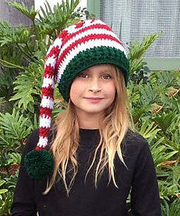 Christmas elf hat crochet pattern