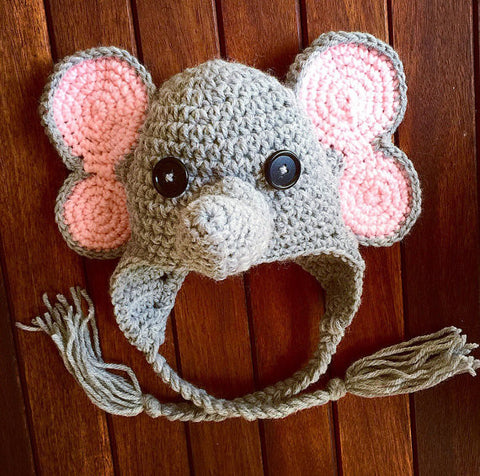 newborn baby crochet pattern elephant hat
