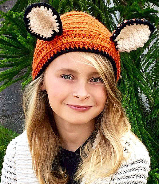 Fox Ear Warmer Crochet Pattern
