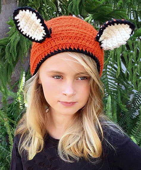 Fallon the Fox Headband Crochet Pattern