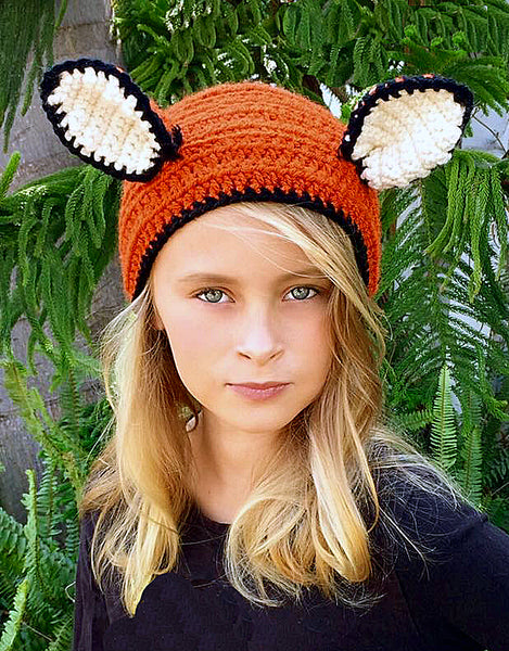 Fox Head Warmer Crochet Pattern