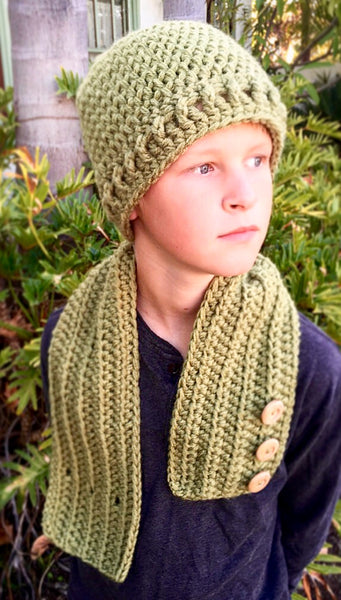 boy neck warmer hat crochet pattern