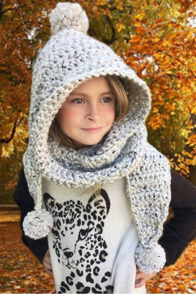 Hooded Scarf Crochet Pattern Chloe Hood Ava Girl Designs