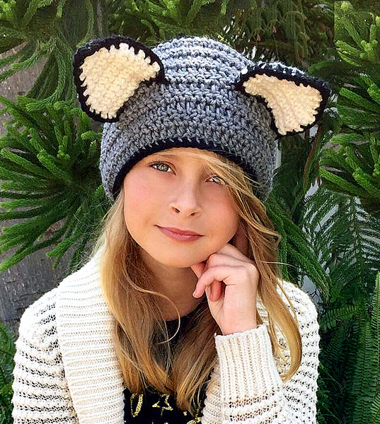 Cat Head Warmer Crochet Pattern