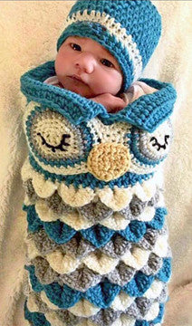 baby owl hat cocoon set crochet pattern