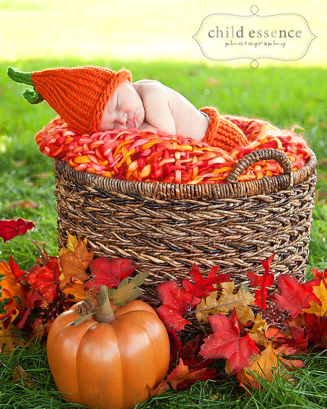 Baby Pumpkin Hat Diaper Cover Loom Knitting Pattern
