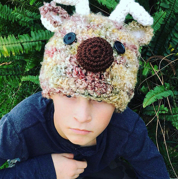 Teen Reindeer Hat Crochet Pattern