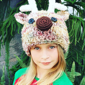 Child Reindeer Hat Crochet Pattern