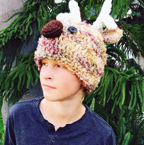 Adult Reindeer Hat Crochet Pattern