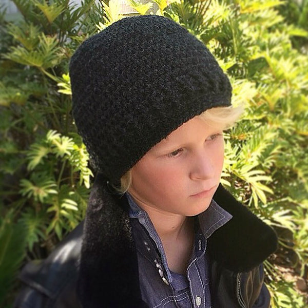 men's crochet slouchy hat pattern