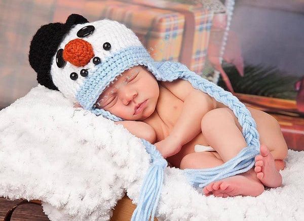 Newborn Snowman Hat Crochet Pattern
