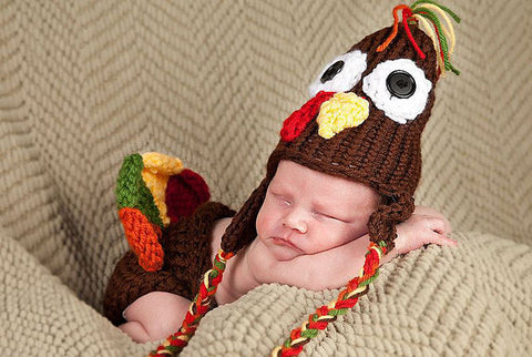 Turkey Hat Diaper Cover Loom Knitting Pattern - Teran The Turkey Set