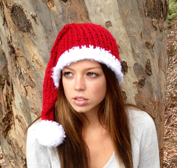 Women's Santa Hat Loom Pattern