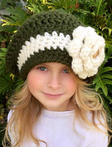 crochet pattern women's girls slouchy hat