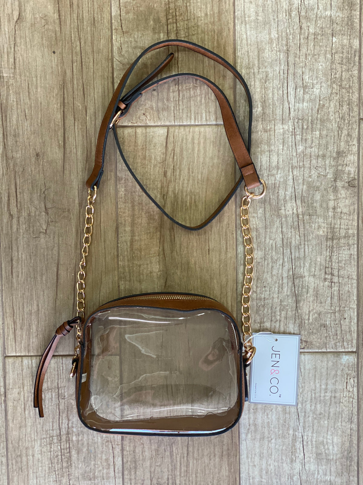 Gameday Clear Crossbody - Brown