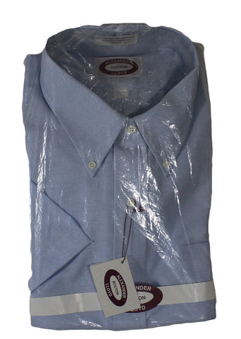 NEW Alexander Lloyd Blue Short Sleeve Shirt Size 18