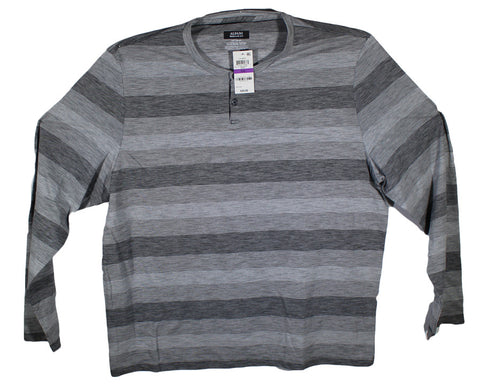 NEW Alfani Black Striped Long Sleeve T-Shirt Size 2XL