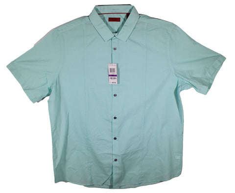 NEW Alfani Cool Mist Blue Short Sleeve Shirt Size 2XL