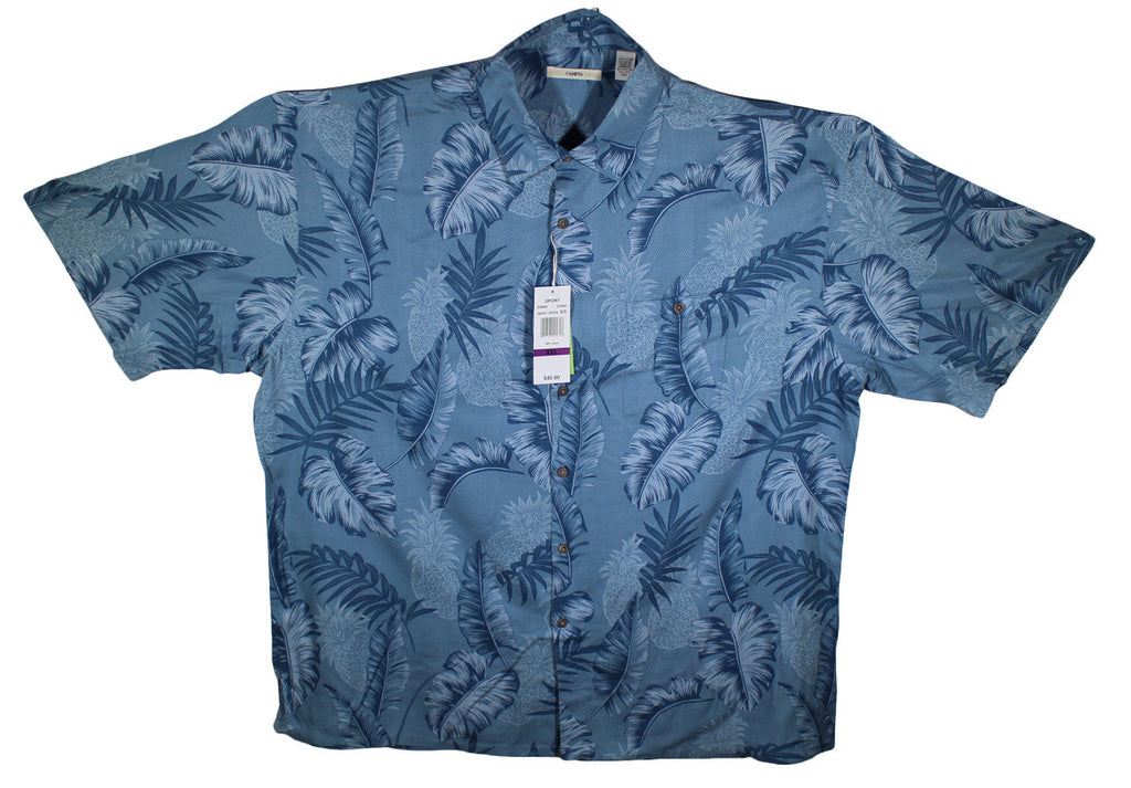 NEW Campia Moda Hawaiian Short Sleeve Shirt Size 2XL - 100% Rayon - 2 Colors
