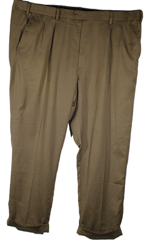 Casual Male Gold Series Brown Dress Pants Size 46 Inseam 30