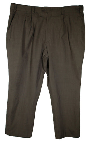 Casual Male Gold Series Dark Brown Dress Pants Size 46 Inseam 30