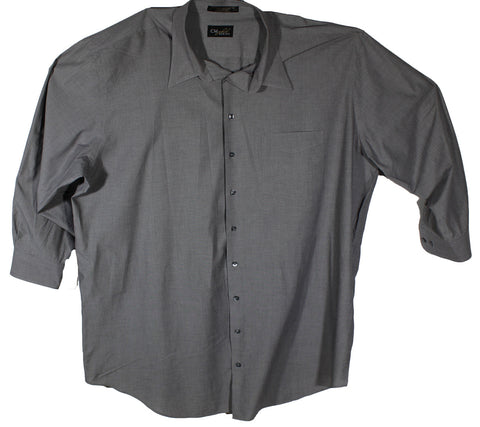 Casual Male Gold Charcoal Long Sleeve Dress Shirt Neck Size 20 & Sleeve Length 35/36