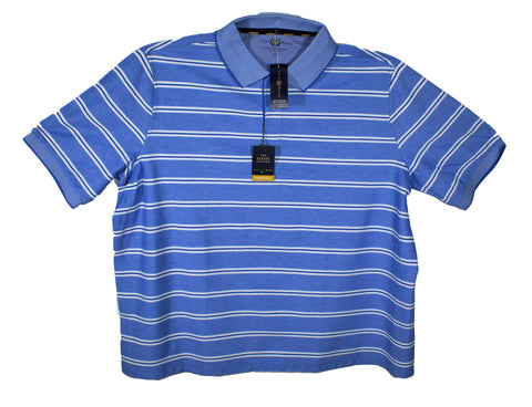 NEW Club Room Double Stripe Polo Shirt Sizes 2XL, 2XLT, 3XL, 3XLT, 4XL & 4XLT - 2 Colors