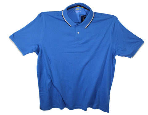 NEW Club Room Collar Accent Polo Shirts Sizes 2XLT, 3XL, 3XLT & 4XLT - 2 Colors