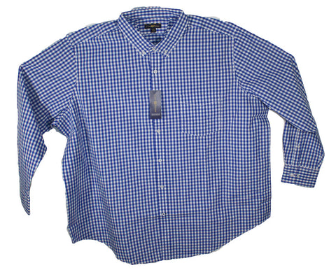 NEW Club Room Checkered Long Sleeve Shirt Size 2XL, 2XLT, 3XL, 3XLT, 4XL & 4XLT - 3 Colors