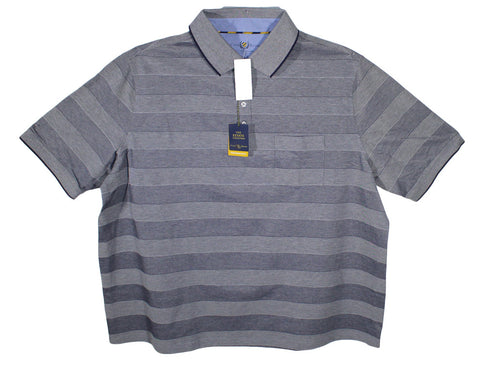 NEW Club Room Large Striped Polo Shirt Sizes 2XL, 2XLT, 3XL, 3XLT, 4XL & 4XLT - 2 Colors